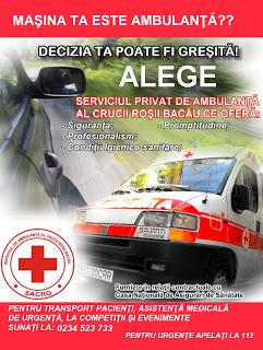 Serviciul de ambulanta Crucea Rosie Bacau